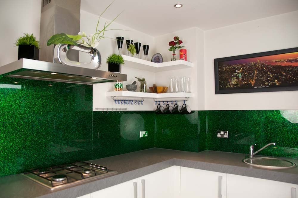 emerald green luxury kitchen glass splashbacks luxury collection splashbacks kitchen on kitchen ideas emerald green id=18287
