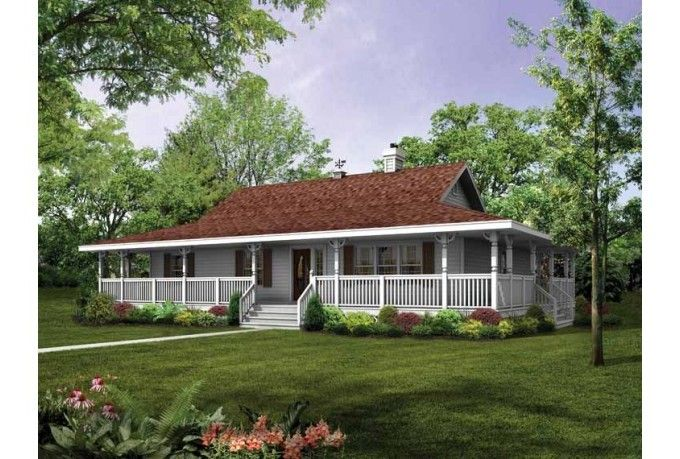 Single Story House Plans With Wrap Around Porch Ideas