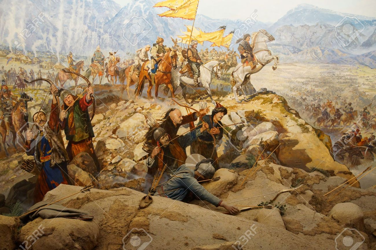huns attack the great wall of china east asian war art on great wall of china id=44158