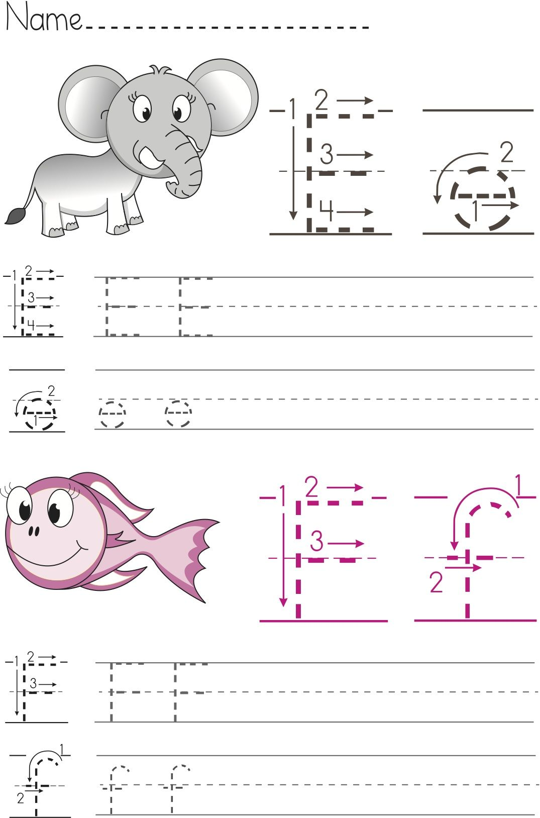 Free Writing Worksheets For Preschool And Kindergarten Abc