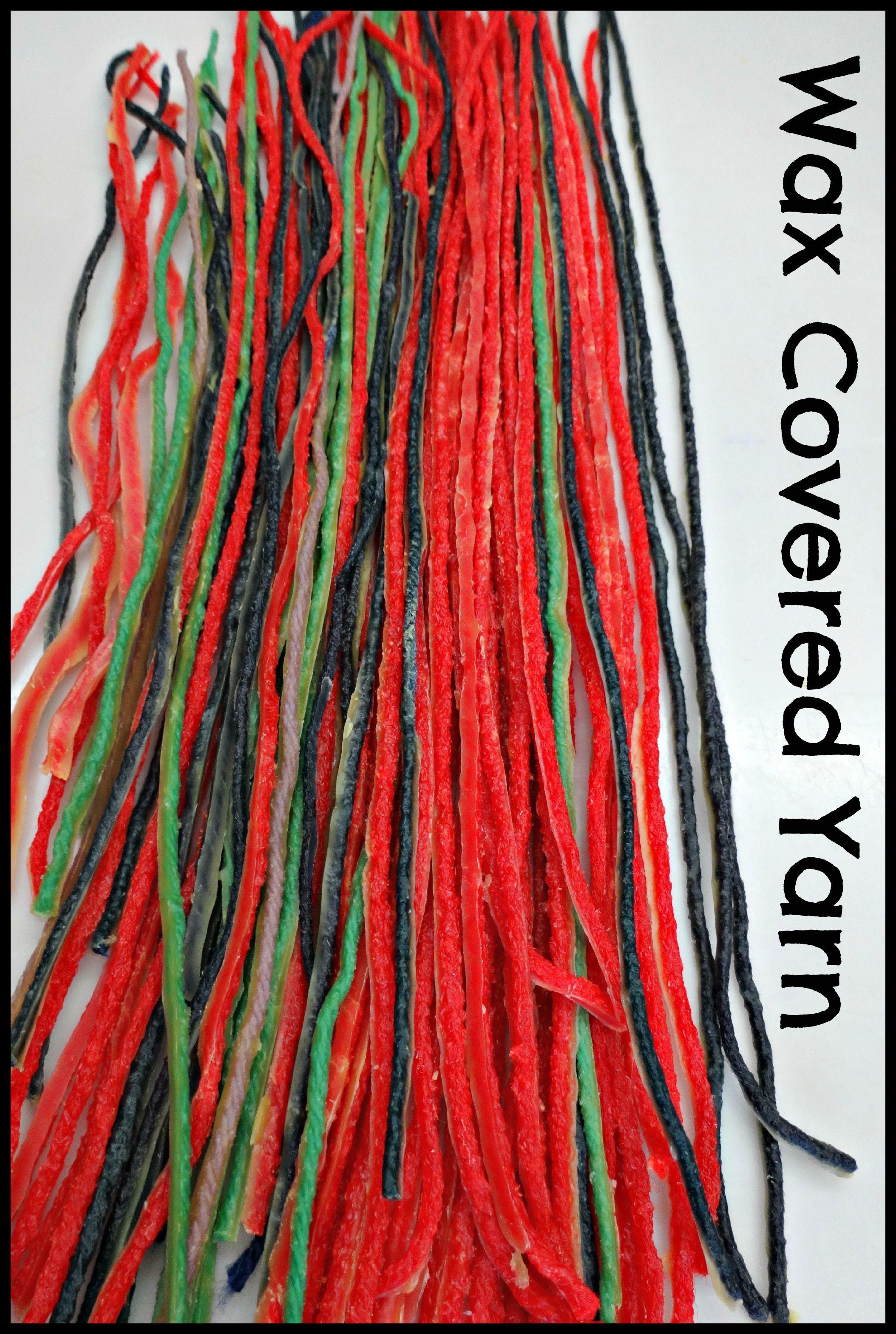 D I Y Wax Covered Yarn Make Take Amp Teach