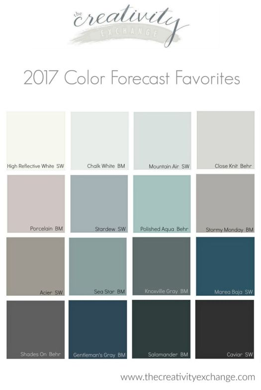 2017 Paint Color Forecast With Es Painted In These Colors
