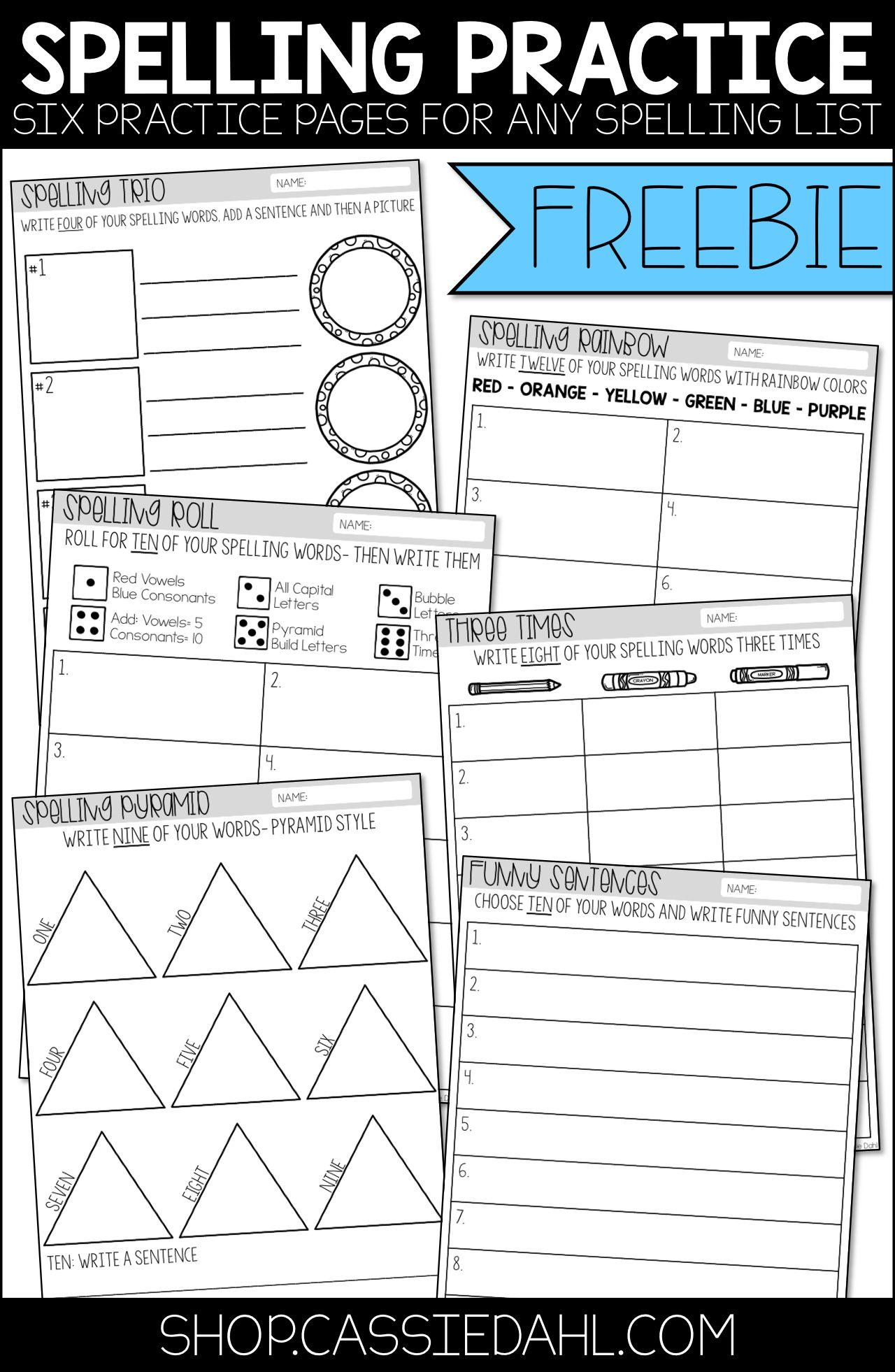 This Freebie Contains Six Practice Pages That You Can Use