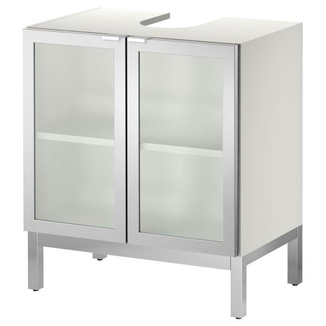 LILL…NGEN Sink base cabinet with 2 door aluminum IKEA to