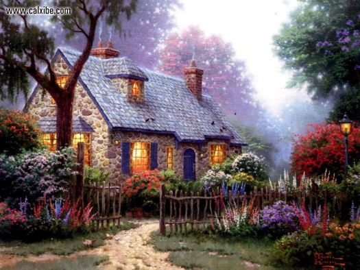 Finding The Design Of Thomas Kinkade Wallpapers For Desktop Beautiful