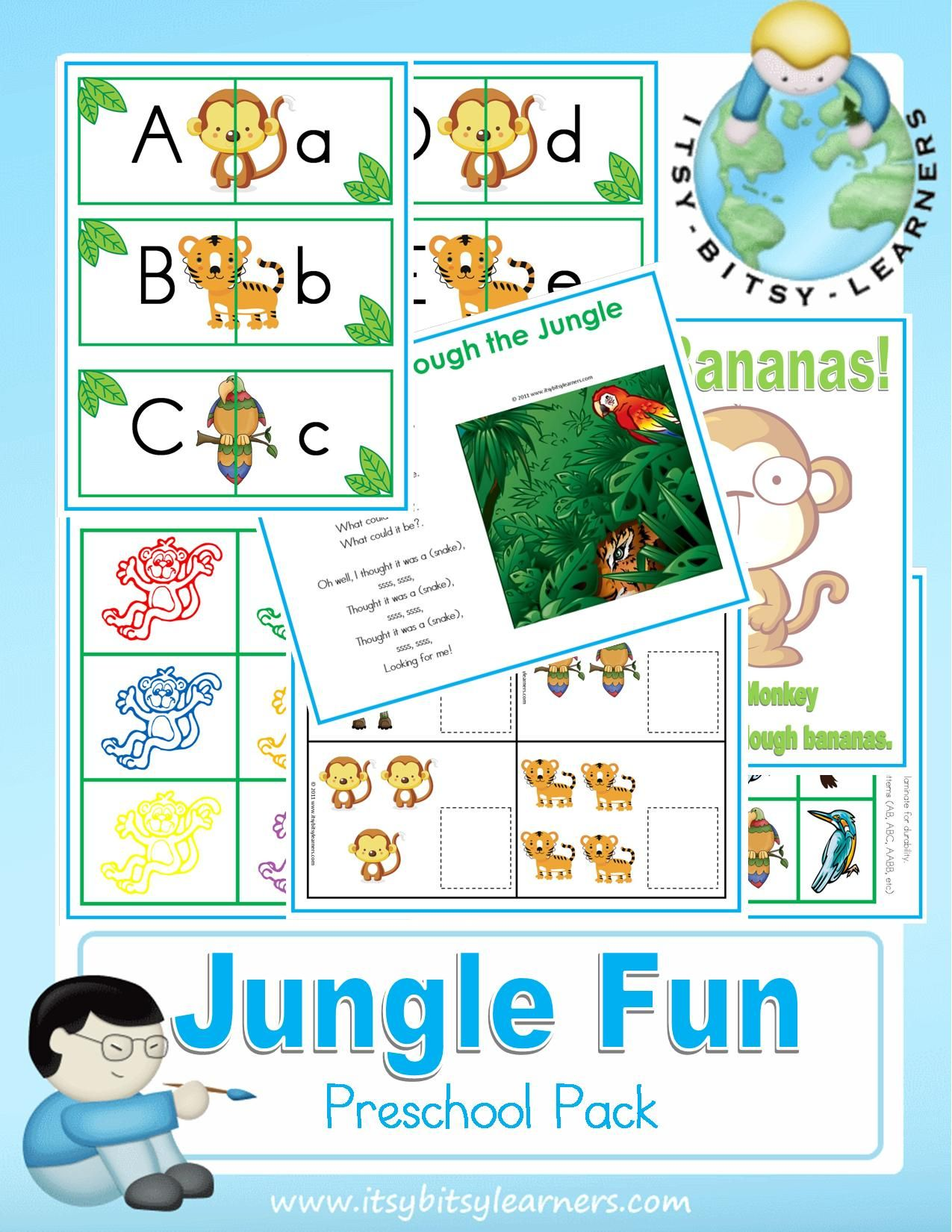 Safari Coloring Page Animals Worksheets And Kindergarten