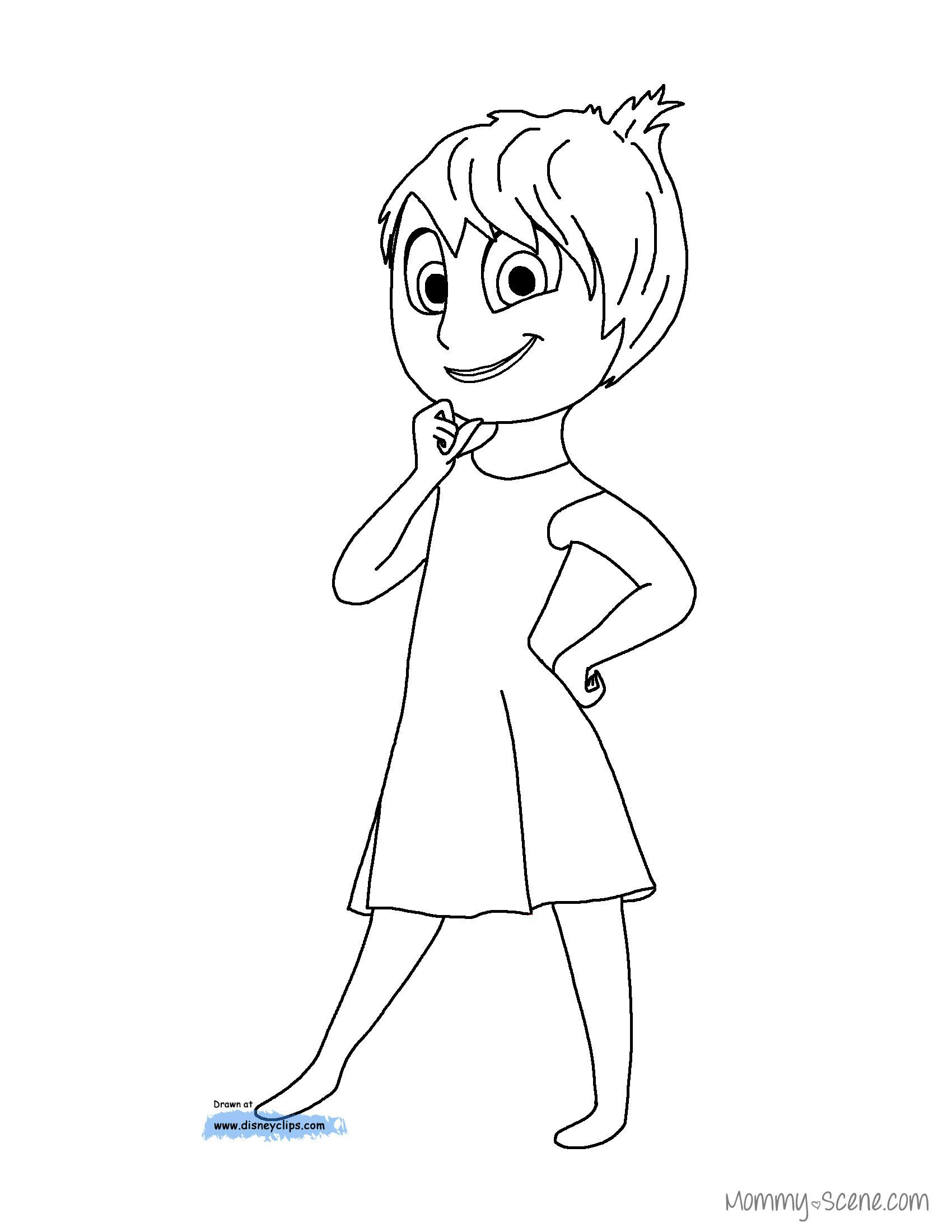 Disney S Inside Out Coloring Pages