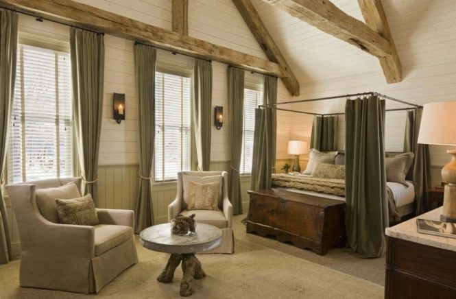 Intriguing Neutral Interior Design For Ski Lodge Nice Master Bedroom Decor With Sitting