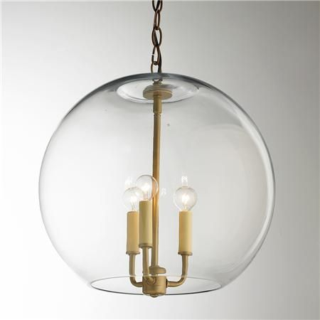 16 Clear Glass Sphere Chandelier