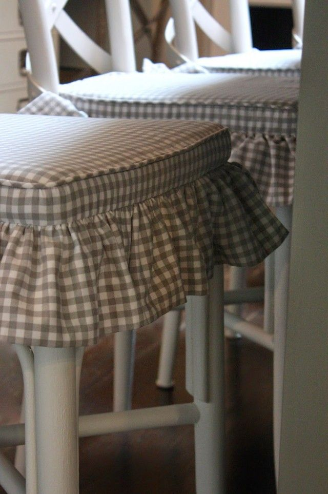 Lovely Lake House Tour Grey Gingham Chair Covers Kitchen Inspiration Pinterest Chair