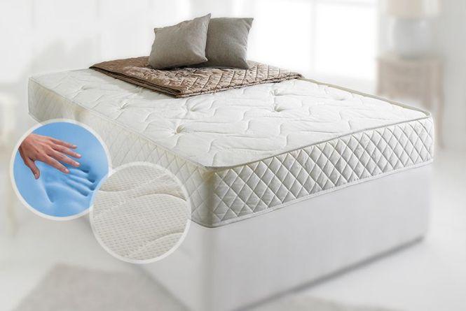 Cool Blue Bonnell Sprung Memory Foam Mattress
