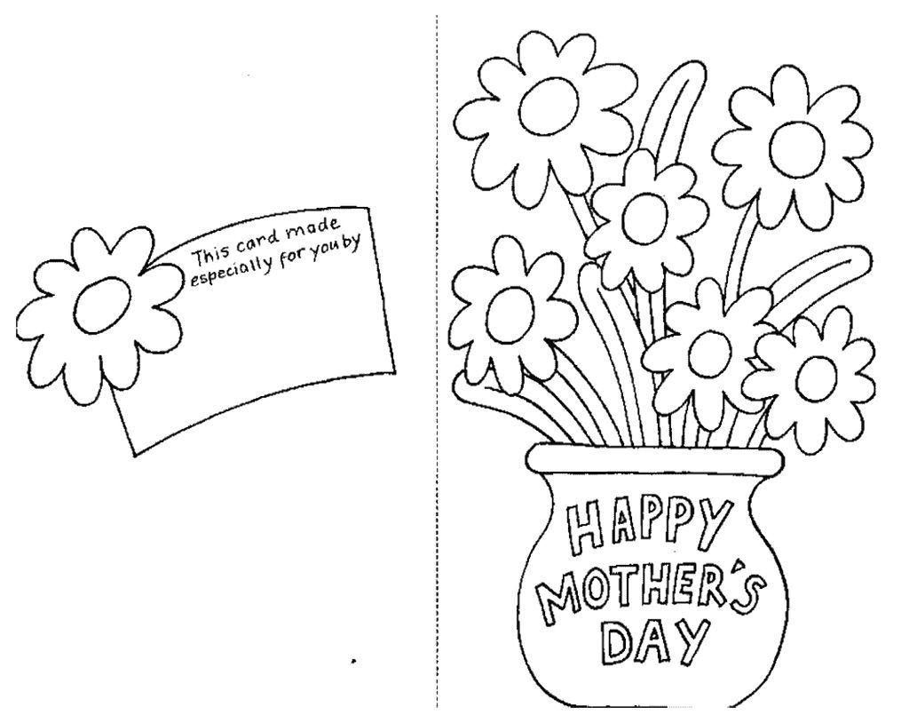 Greeting Card For Mother S Day Coloring Page