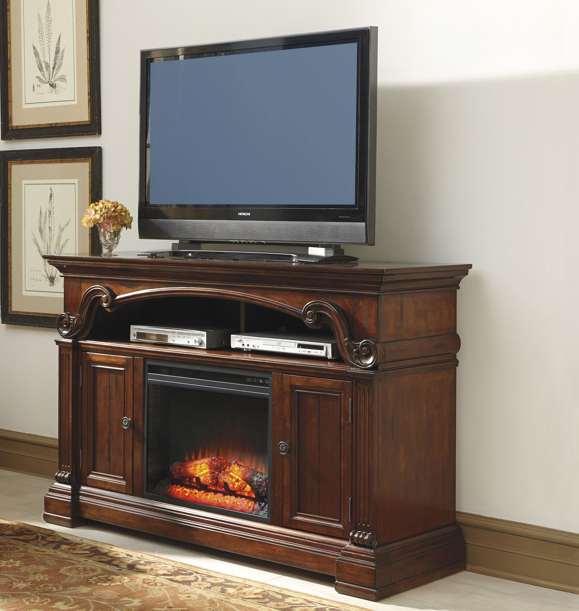 Alymere Large Tv Stand W Fireplace Option By Ashley