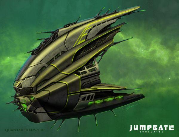 Quantar Transport Picture (2d, sci-fi, transport ...