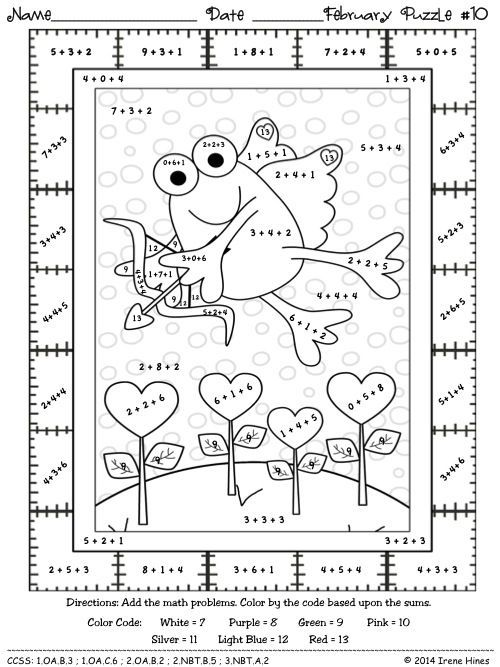 2nd grade math colornumber coloring pages  math