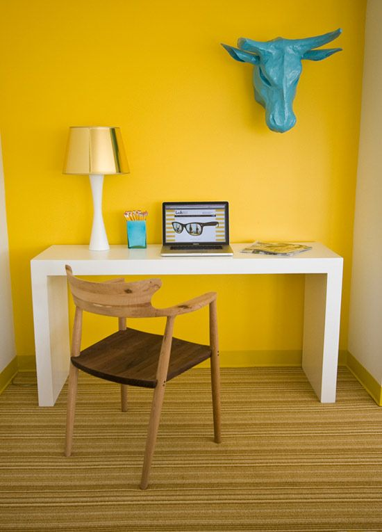 yellow home office pinterest kitsch walls and room on pinterest office colors id=28129