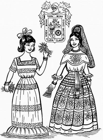 Dibujos Para Colorear Trajes Tpicos Mexicanos Modern Home Revolution