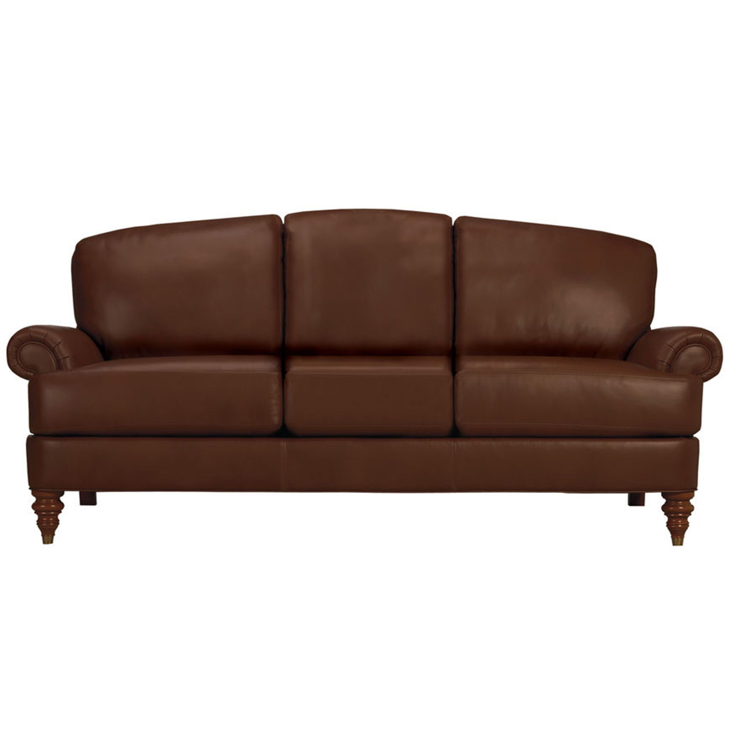 Hyde Three Cushion Leather Sofa Ethan Allen Us Furniture And