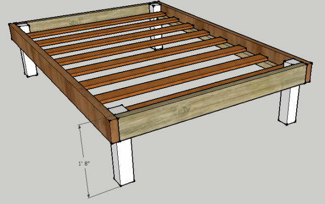 Simple Queen Bed Frame By Luckysawdust Lumberjocks Woodworking Community