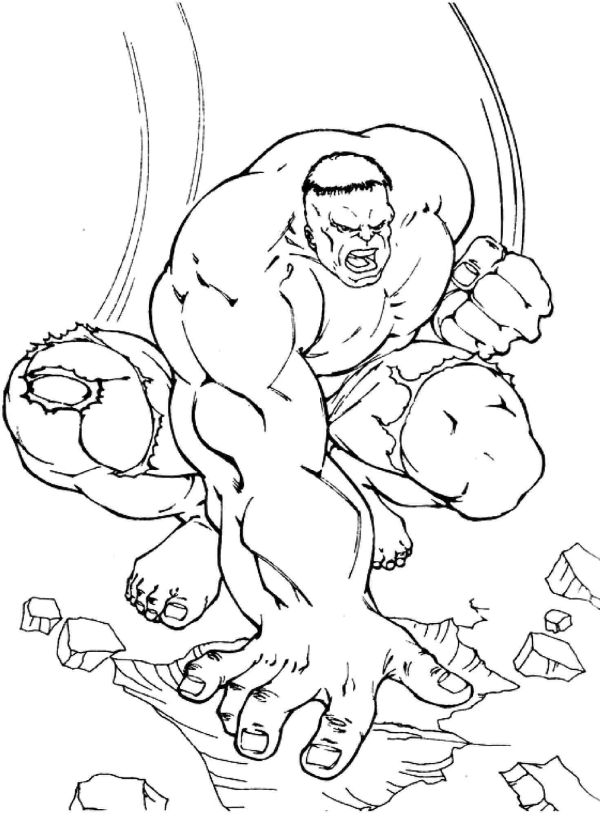 25 Popular Hulk Coloring Pages For Toddler | Free printable
