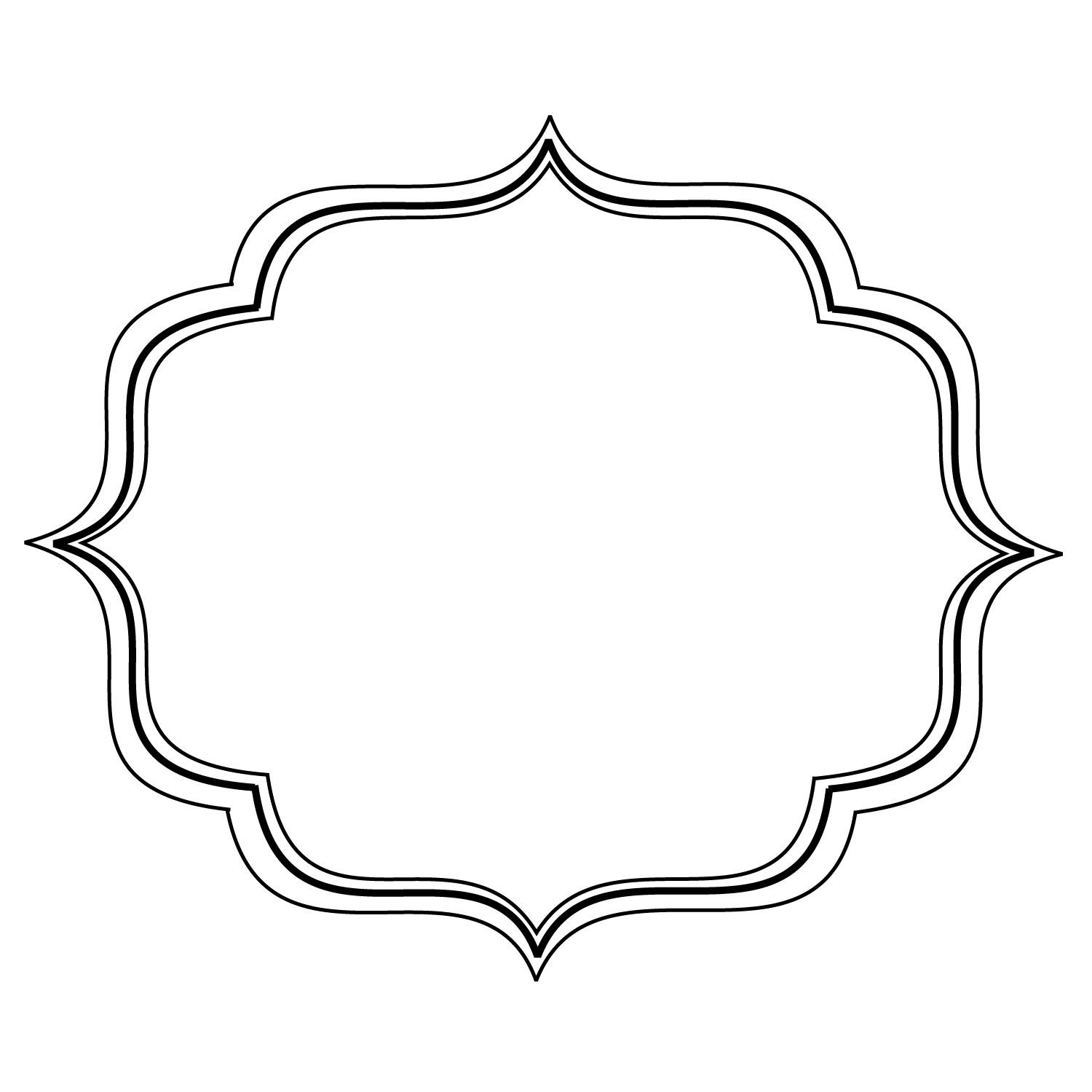 Simple Filigree Scroll Designs Frame Image