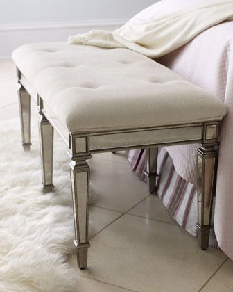 denison mirrored bench traditional bedroom benches #franklinandben