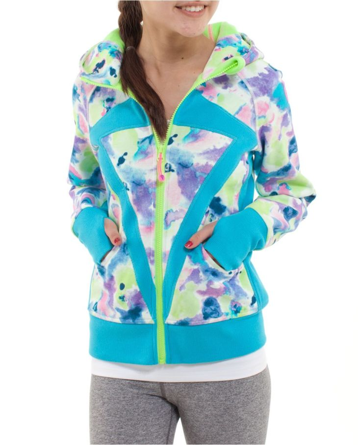 Stay cozy in Cotton Fleece fabric and thumbholes ivivva Remix