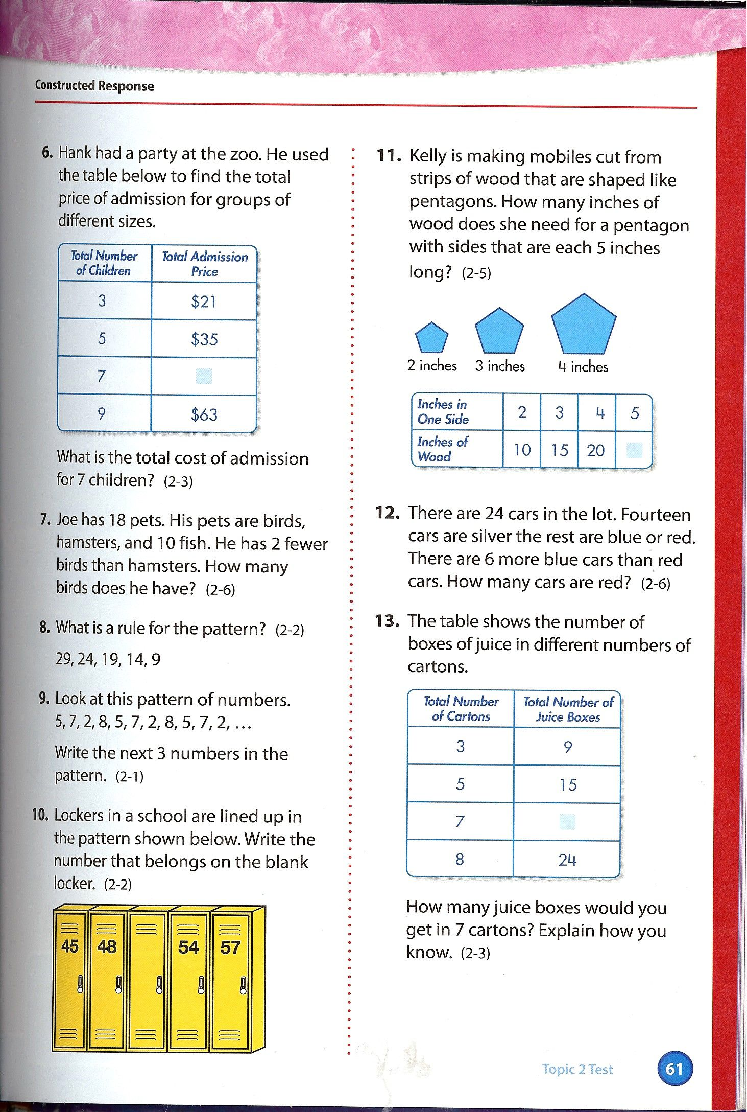 Electronic Math Worksheet
