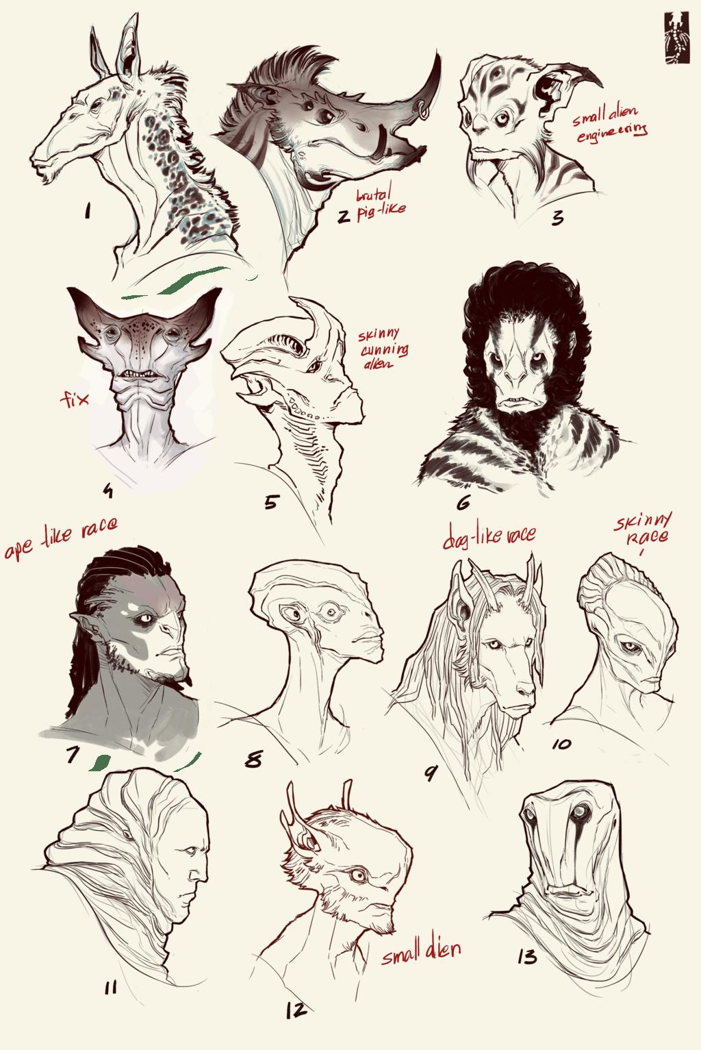 Aliens Head Concept 2 Wanja90 By Zarnala On Deviantart