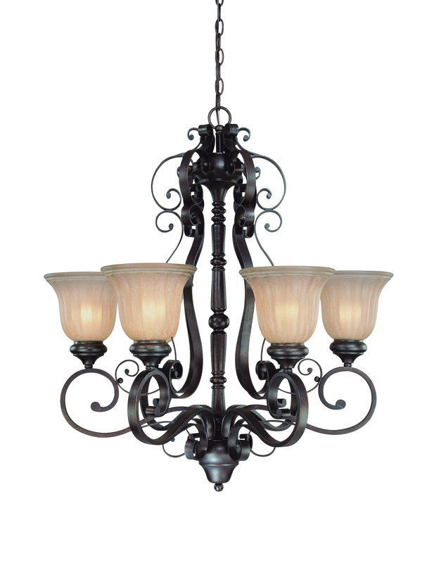 Jeremiah Lighting 25826 Lagrange Single Tier 6 Light Chandelier 28 5 Inches Wi Seville Iron Indoor
