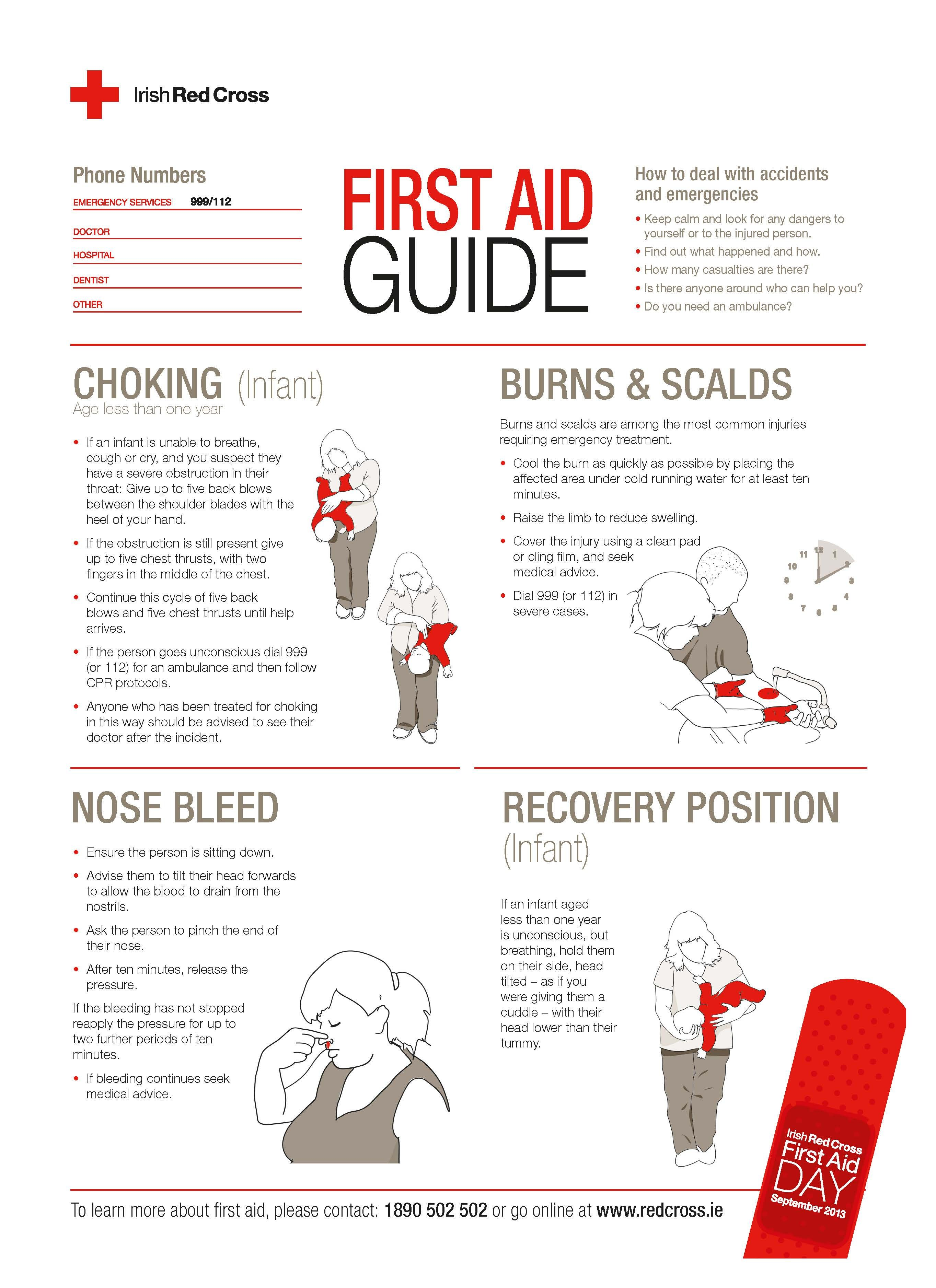Free A4 First Aid Guide Poster From The Irish Red Cross