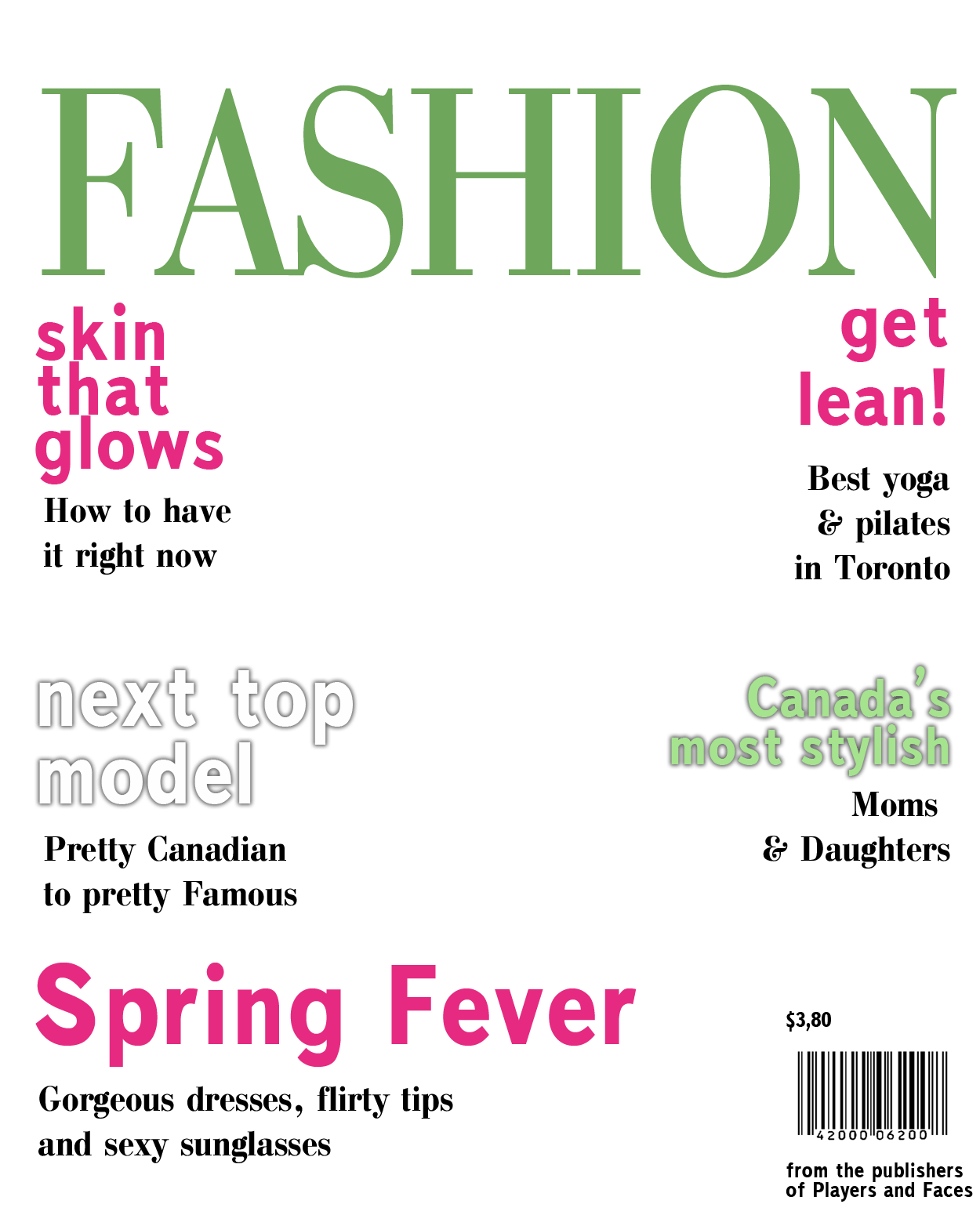 Magazine Cover Layout Template