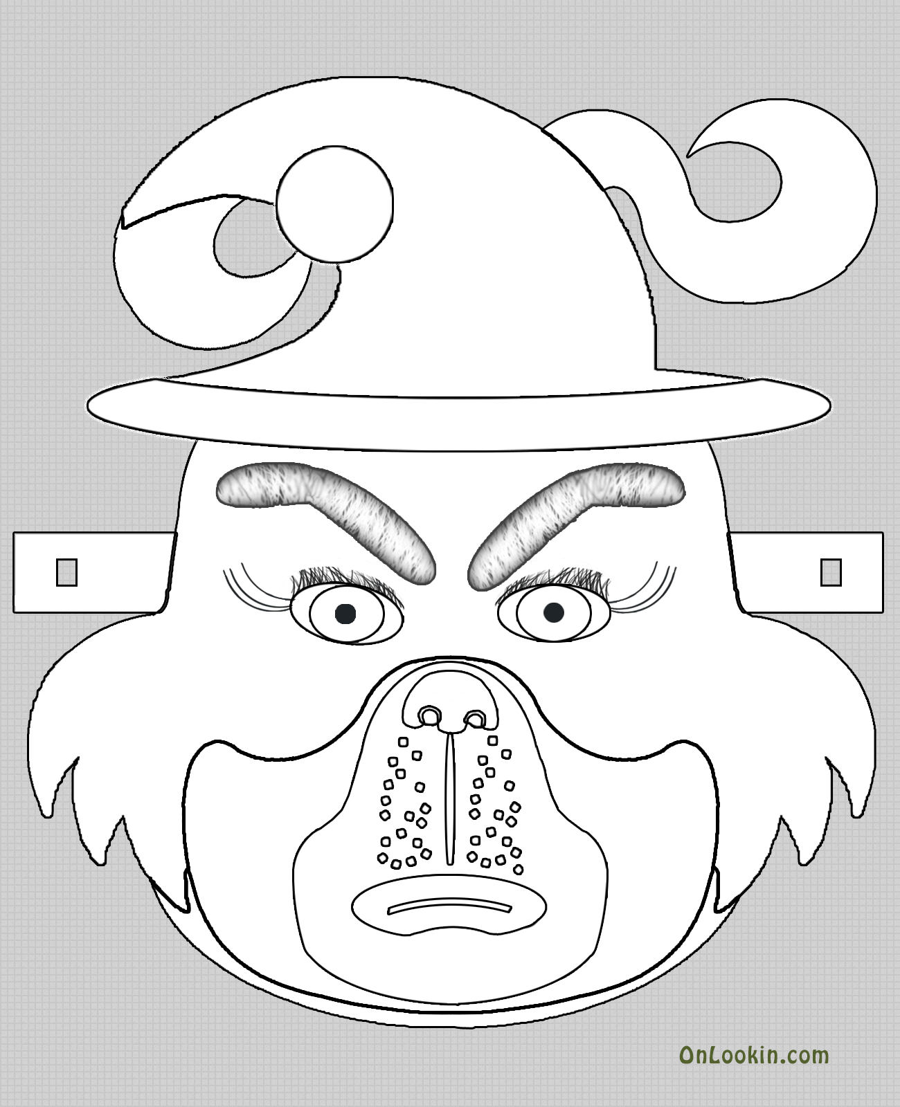 Grinch Mask Template