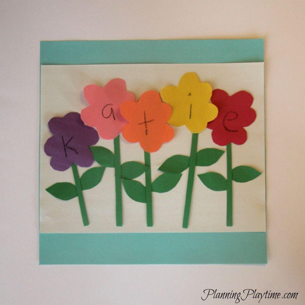 flower garden craft preschool