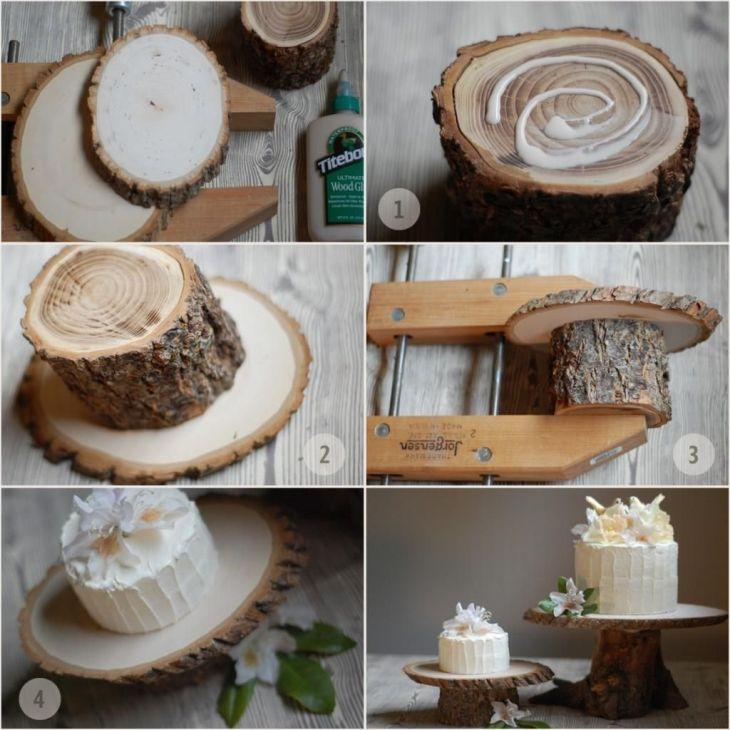DIY Rustic Wedding Cake Stand Once Wed Diy rustic weddings
