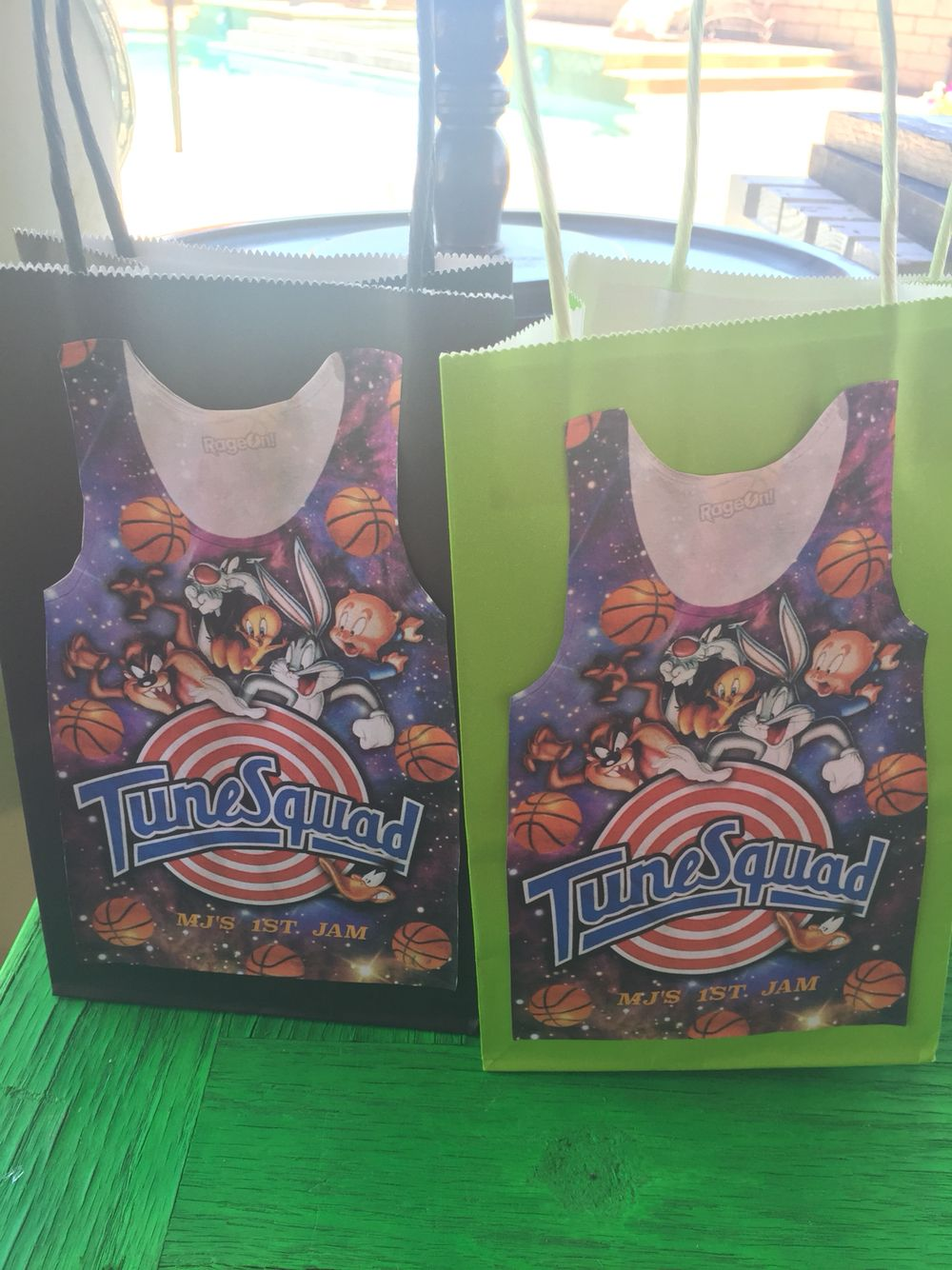Candy Bags For The Kids Space Jam Party Space Jam Party Pinterest Space Jam Candy Bags
