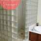 Badezimmer ideen über toilette walk in glass block showers are easy to clean and they get rid of
