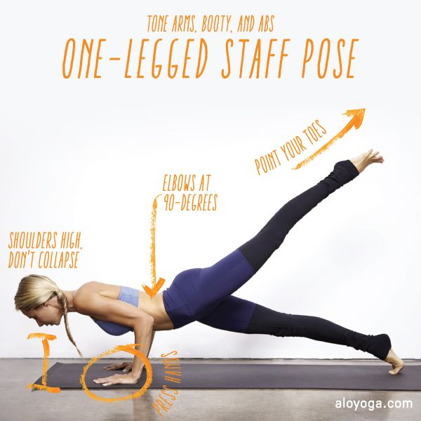 Alo Yoga Challenge Of The Week One Legged Staff Pose Great For