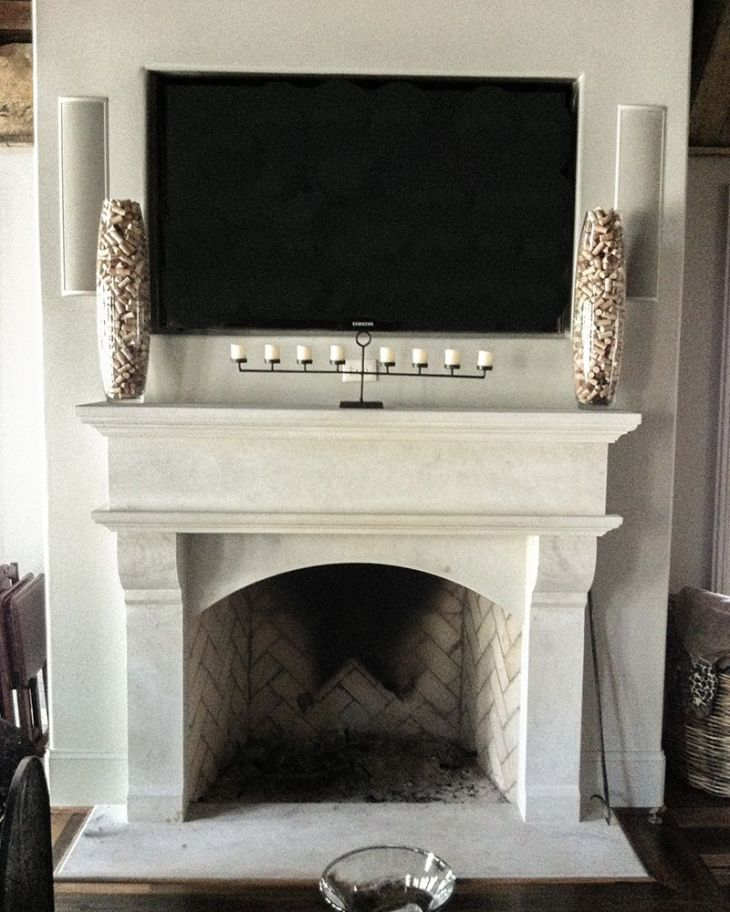 Alabama Limestone Fireplace Surround New home Pinterest