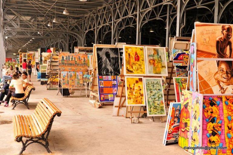 foto del interior de los Almacenes de San José, La Habana