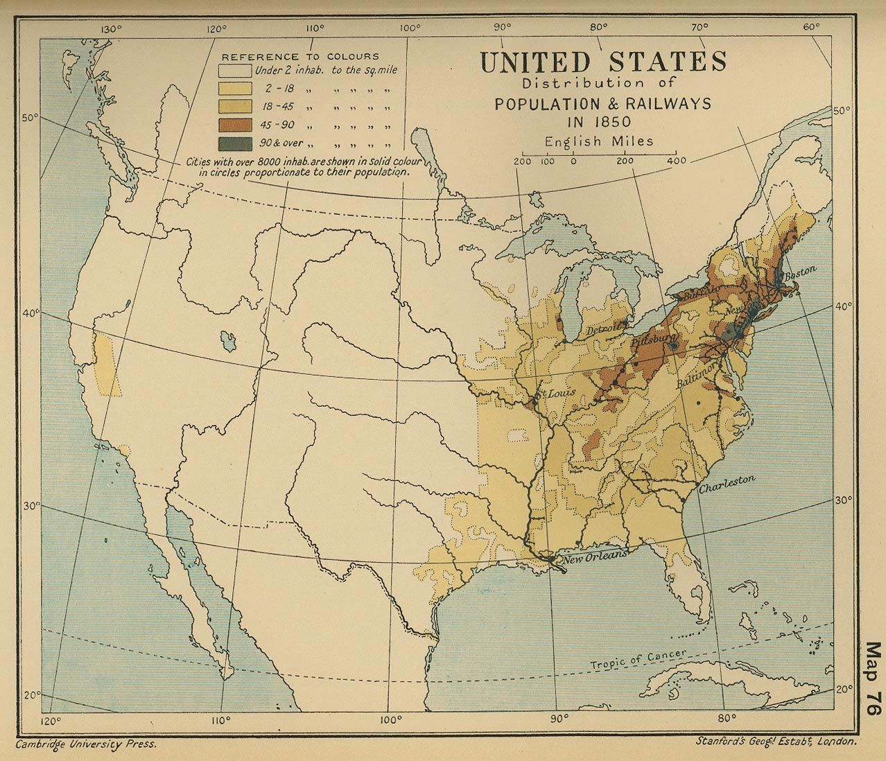 Map Of The United States Population