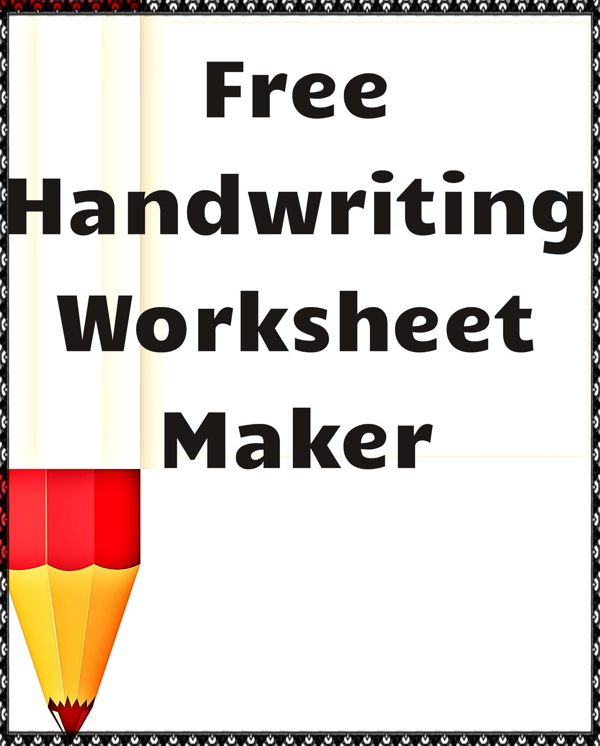93 Powerful Handwriting Worksheet Maker