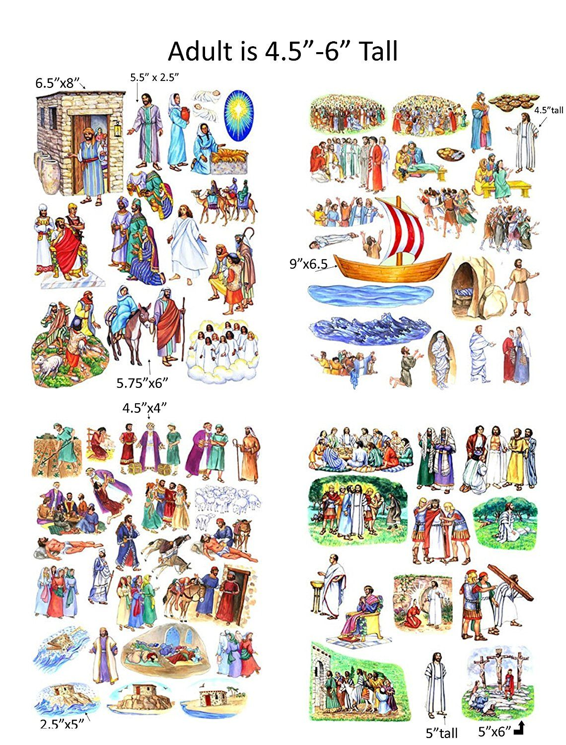 Story Amp Life Of Jesus 13 Bible Stories Felt Figures For Flannel Board Precut Amp Ready To Use