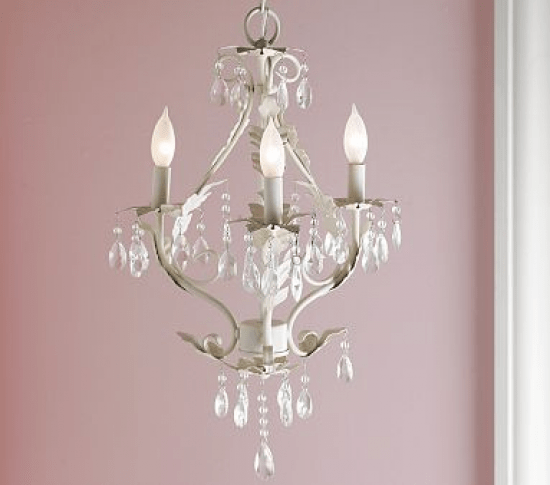 Beautiful Chandelier For A Little â S Room Via Pbk