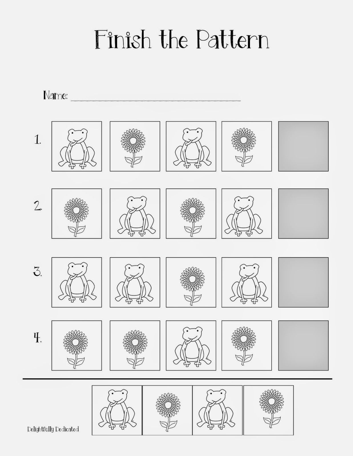 Finish The Pattern Worksheets