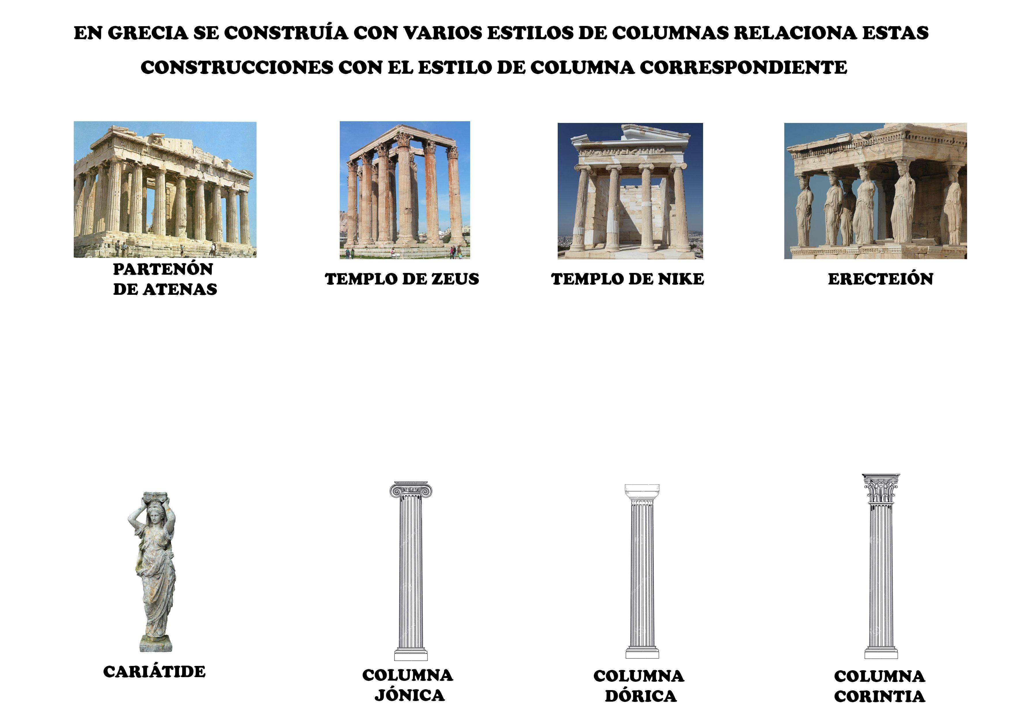 Tipos De Columnas Griegas Y Construcciones