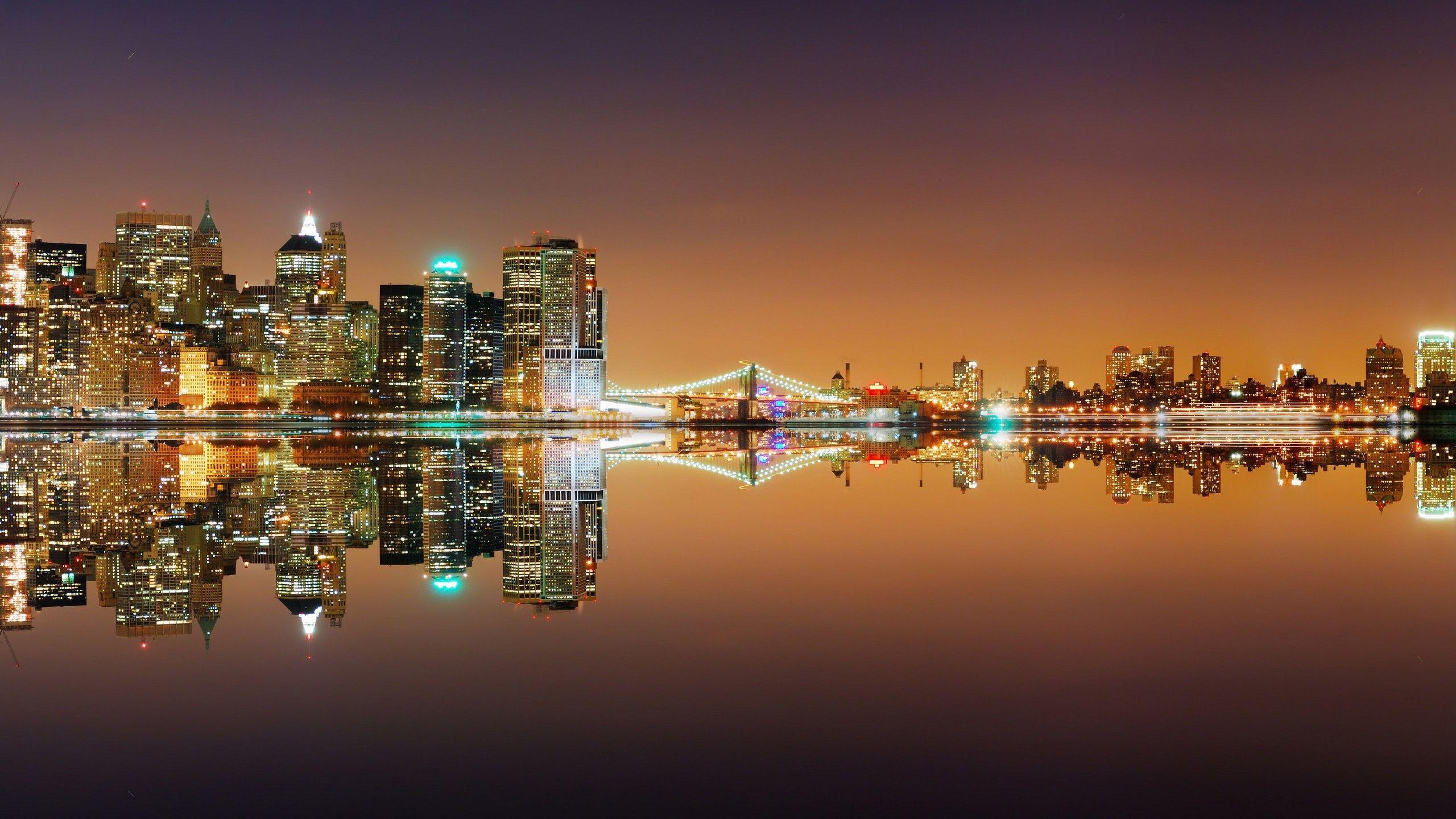 new york city skyline hd desktop wallpaper : widescreen : high