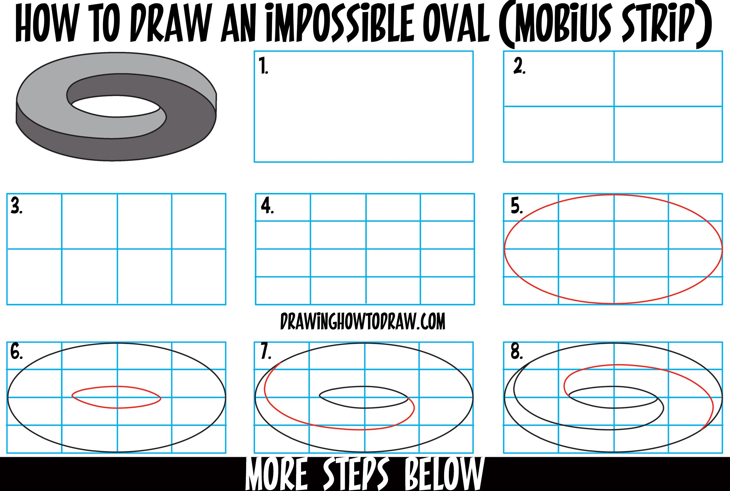 How To Draw An Impossible Oval Mobius Strip Mobius