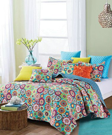 This Medallions Printed Quilt Set by Duke Imports  Inc  is perfect     This Medallions Printed Quilt Set by Duke Imports  Inc  is perfect    zulilyfinds