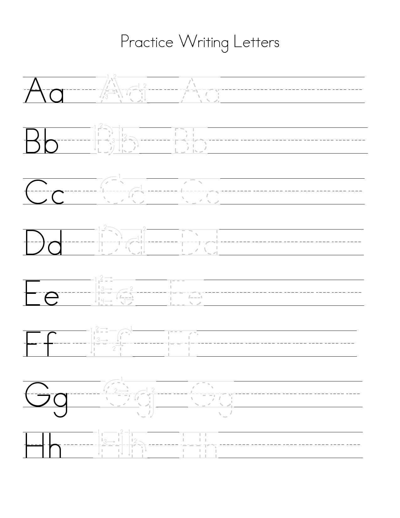 Letter Practice For Basic Handwriting